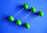 Scheidenverschlüsse grün  5,5 bis 7,5 cm